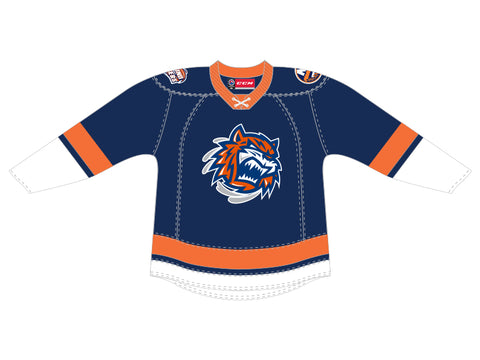 CCM Quicklite Bridgeport Sound Tigers Premier Blue Jersey