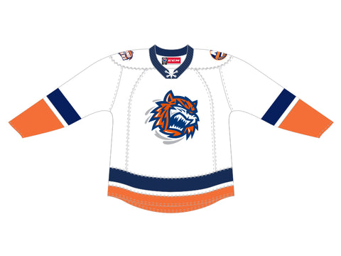 CCM Quicklite Bridgeport Sound Tigers Customized Premier White Jersey