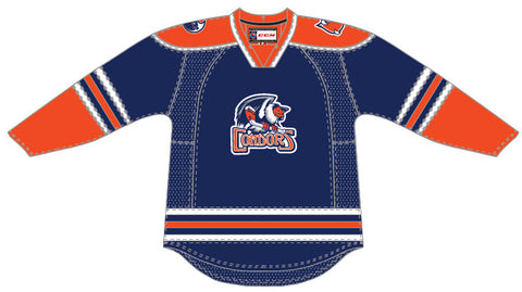 CCM Edge Bakersfield Condors Customized Premier Blue Jersey