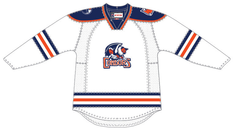 CCM Edge Bakersfield Condors Customized Premier White Jersey
