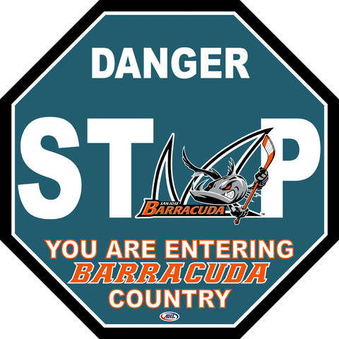 San Jose Barracuda Fan Stop Sign