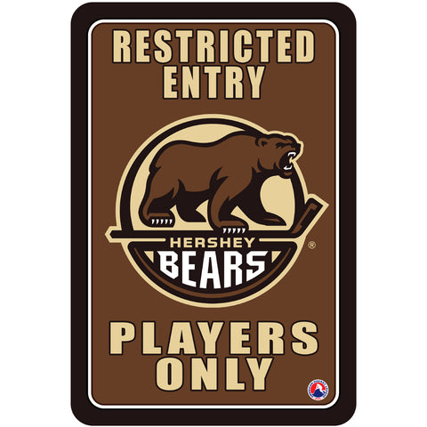 "Hershey Bears ""Players Only"" Sign"