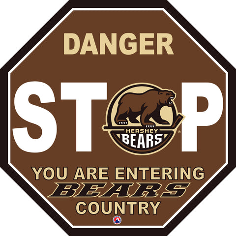 Hershey Bears Fan Stop Sign