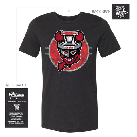 108 Stitches Binghamton Devils Adult Circle T-Shirt