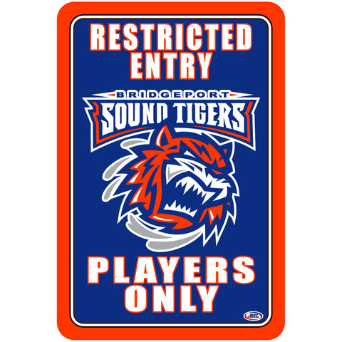 "Bridgeport Sound Tigers ""Players Only"" Sign"