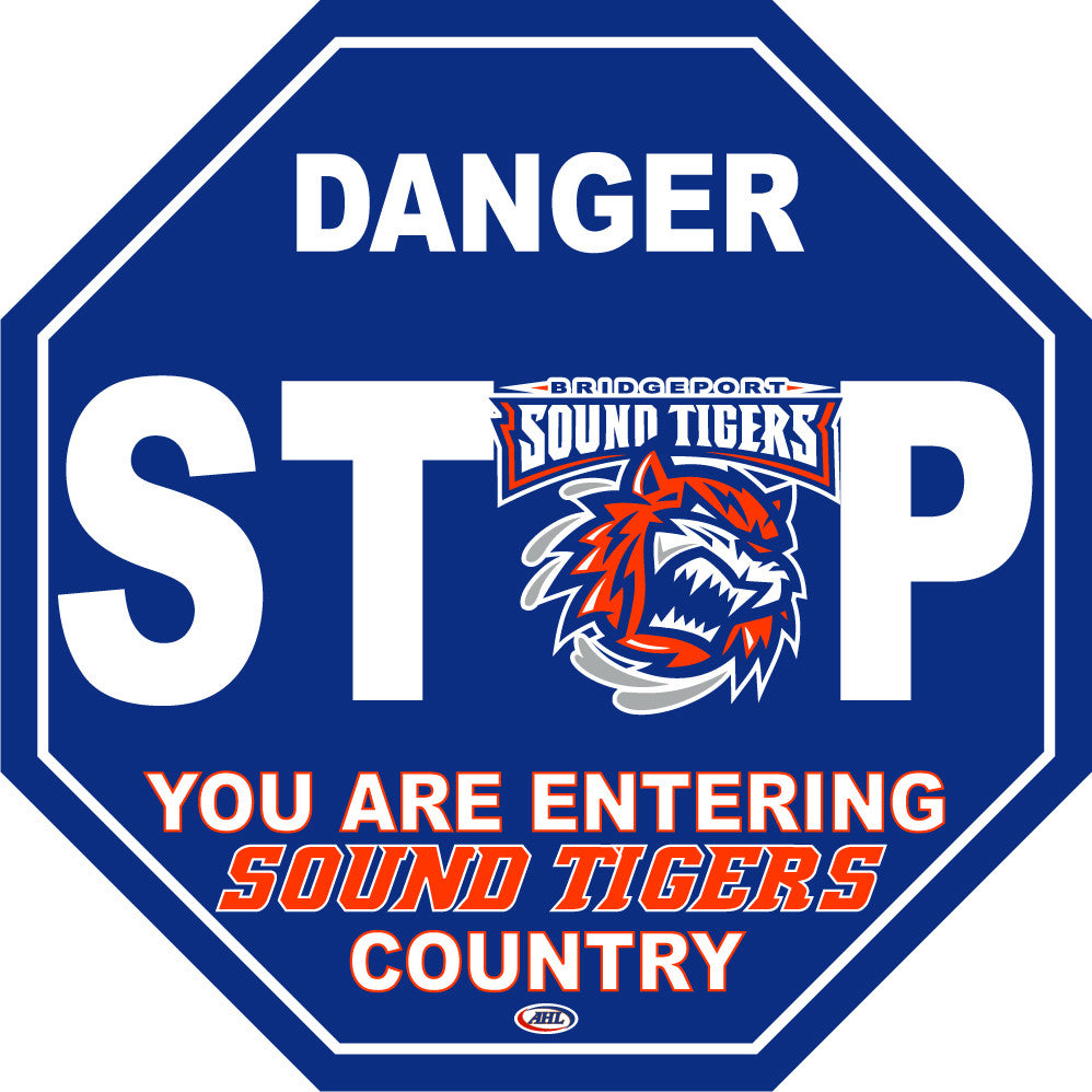 Bridgeport Sound Tigers Fan Stop Sign