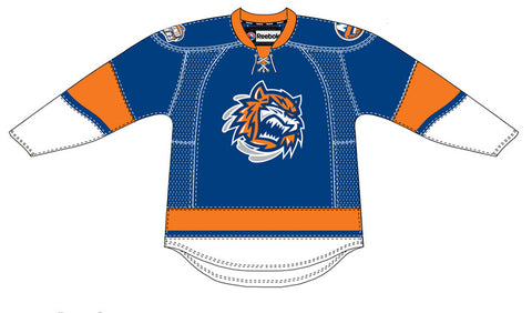 CCM Bridgeport Sound Tigers Customized Premier Blue Jersey