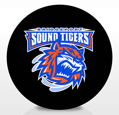 Bridgeport Sound Tigers Team Logo Souvenir Puck