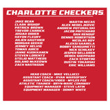 Charlotte Checkers 2019 Calder Cup Champions Roster T-Shirt