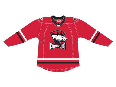 CCM Quicklite Charlotte Checkers Customized Premier Red Jersey