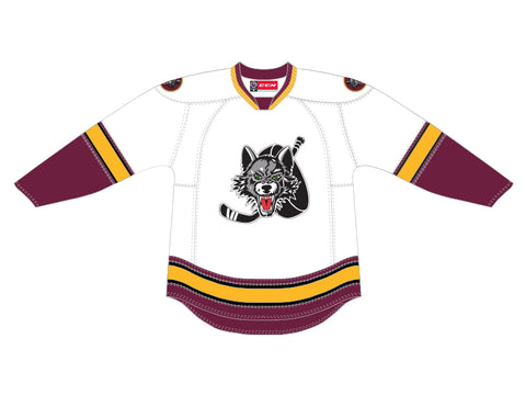 CCM Quicklite Chicago Wolves Customized Premier White Jersey