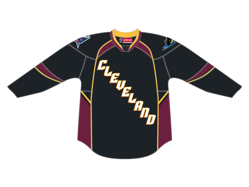 CCM Quicklite Cleveland Monsters Customized Premier Black Jersey