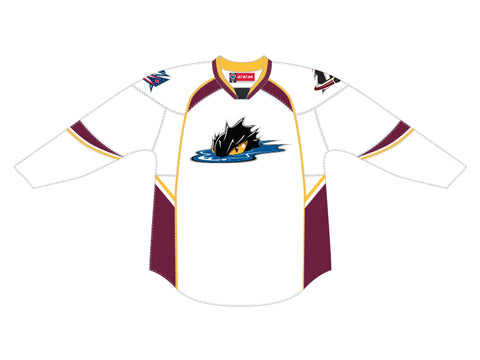 CCM Quicklite Cleveland Monsters Customized Premier White Jersey