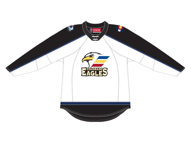 CCM Quicklite Colorado Eagles Premier White Jersey