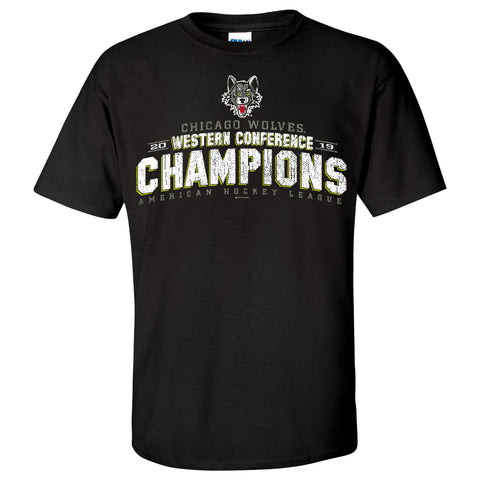 Chicago Wolves 2019 Western Conference Champions T-Shirt