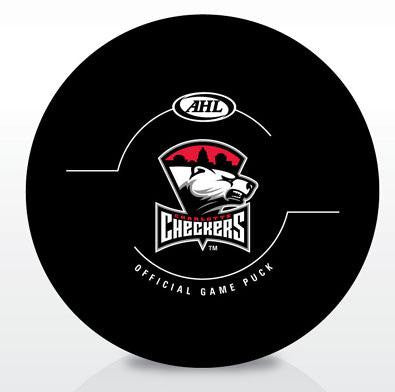 Charlotte Checkers New Look Official Game Puck
