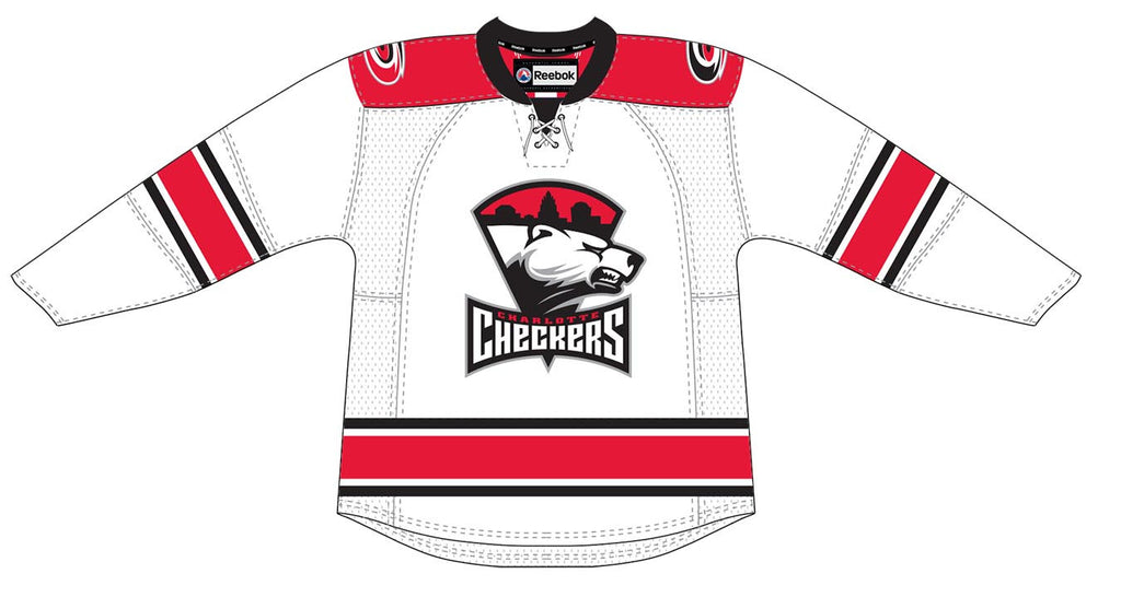 Reebok-CCM Charlotte Checkers Customized Premier Home Jersey