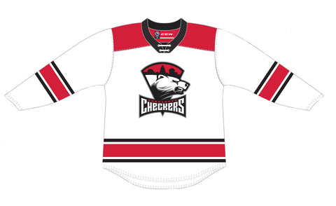 CCM Quicklite Charlotte Checkers Customized Premier White Jersey
