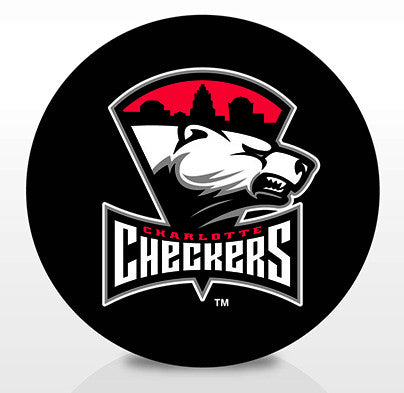 Charlotte Checkers Team Logo Souvenir Puck