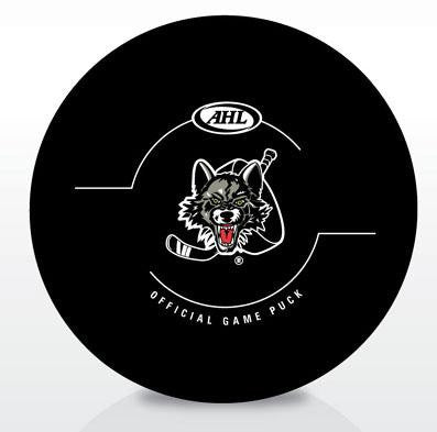 Chicago Wolves New Look Official Game Puck