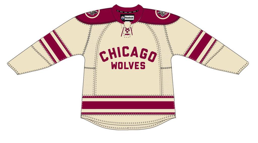 Reebok Chicago Wolves Customized Premier Third Jersey