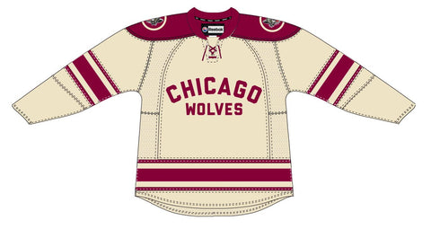 Reebok Chicago Wolves Customized Premier Third Jersey (Clearance)