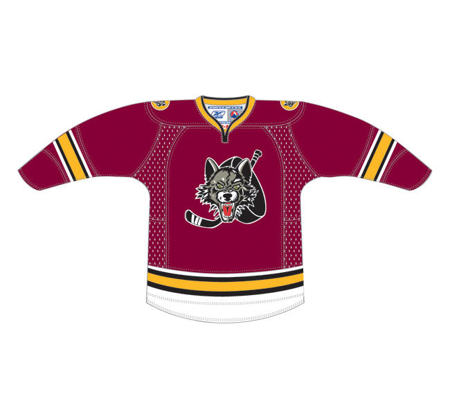 CCM Chicago Wolves Customized Premier Maroon Jersey – ahlstore.com 6a531094fb5