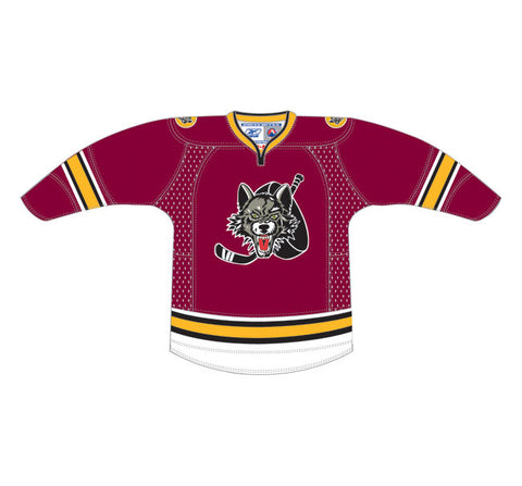 CCM Edge Chicago Wolves Customized Premier Maroon Jersey