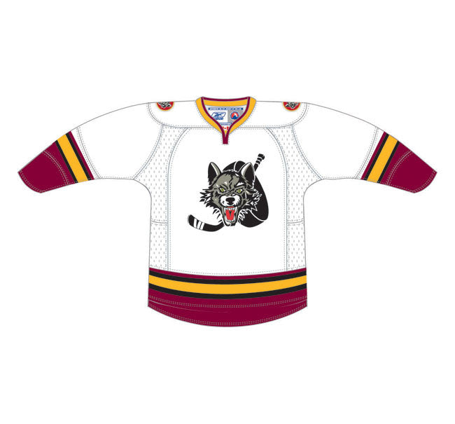 CCM Edge Chicago Wolves Customized Premier White Jersey