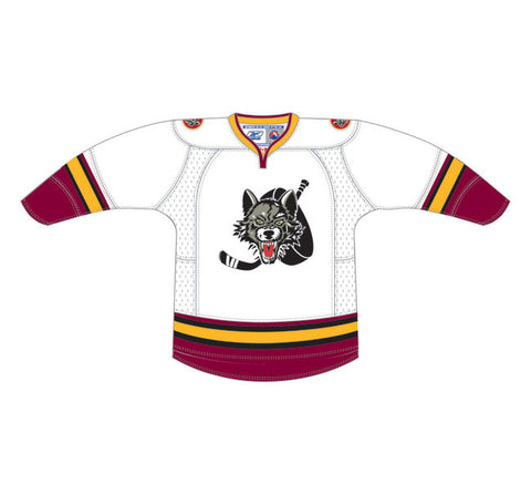 CCM Chicago Wolves Customized Premier White Jersey
