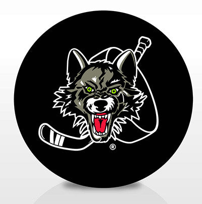 Chicago Wolves Team Logo Souvenir Puck