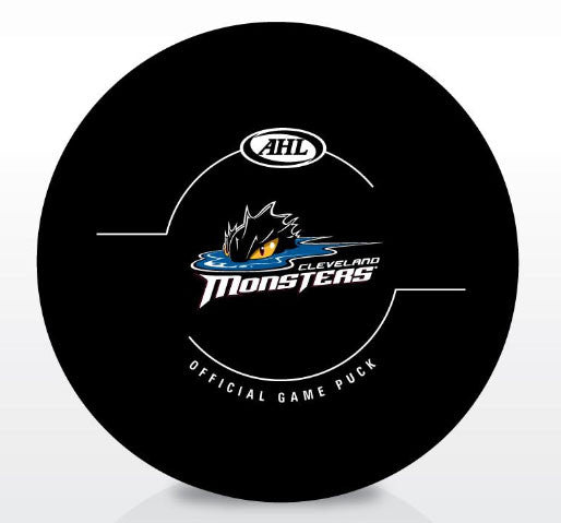 Cleveland Monsters Official Game Puck
