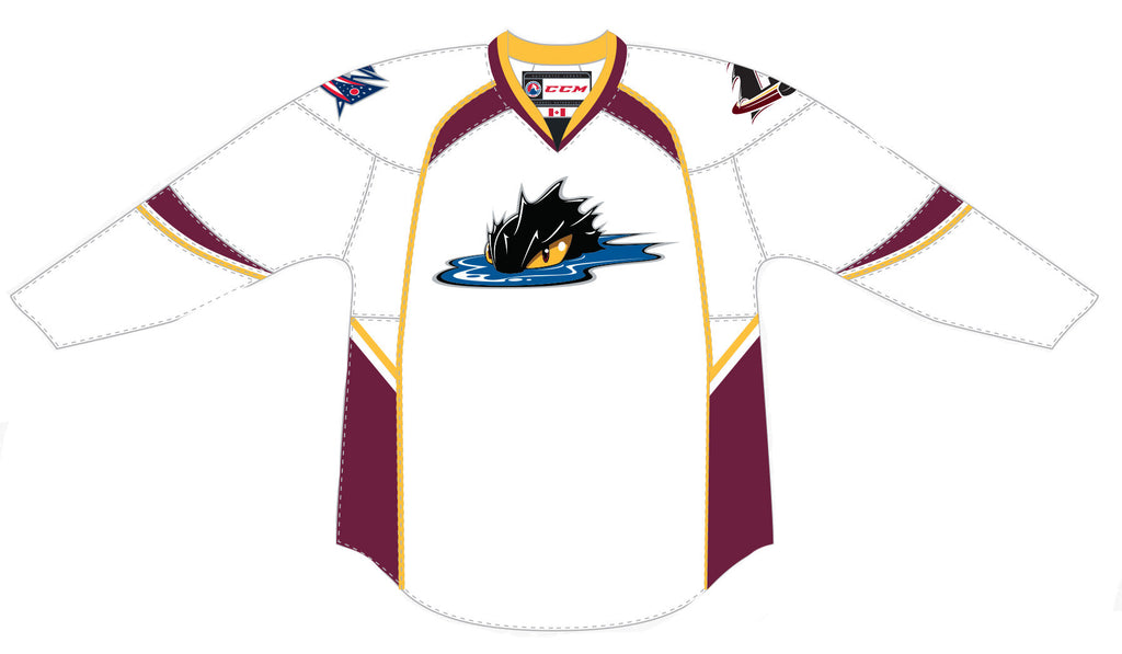 CCM Edge Cleveland Monsters Premier White Jersey