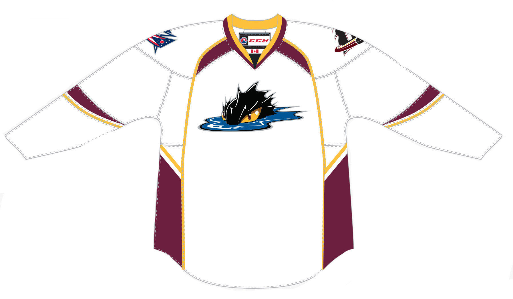 2d0f2182b CCM Edge Cleveland Monsters Customized Premier White Jersey – ahlstore.com