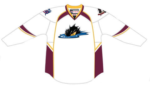 CCM Cleveland Monsters Customized Premier White Jersey