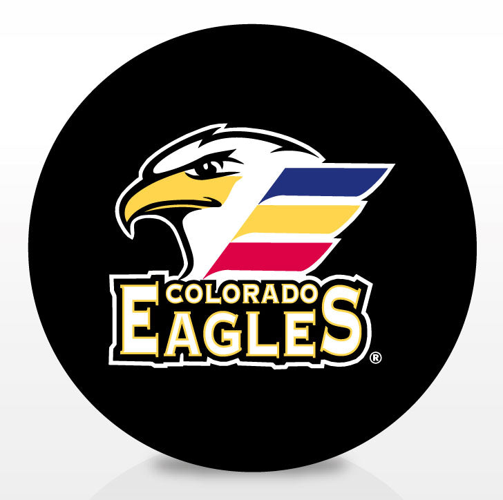 Colorado Eagles Team Logo Souvenir Puck