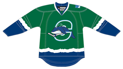 Reebok Connecticut Whale Premier Adult Green Away Jersey