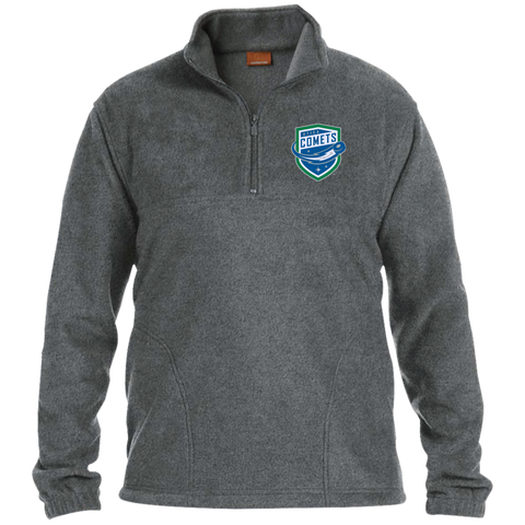 Utica Comets Adult Embroidered 1/4 Zip Fleece Pullover
