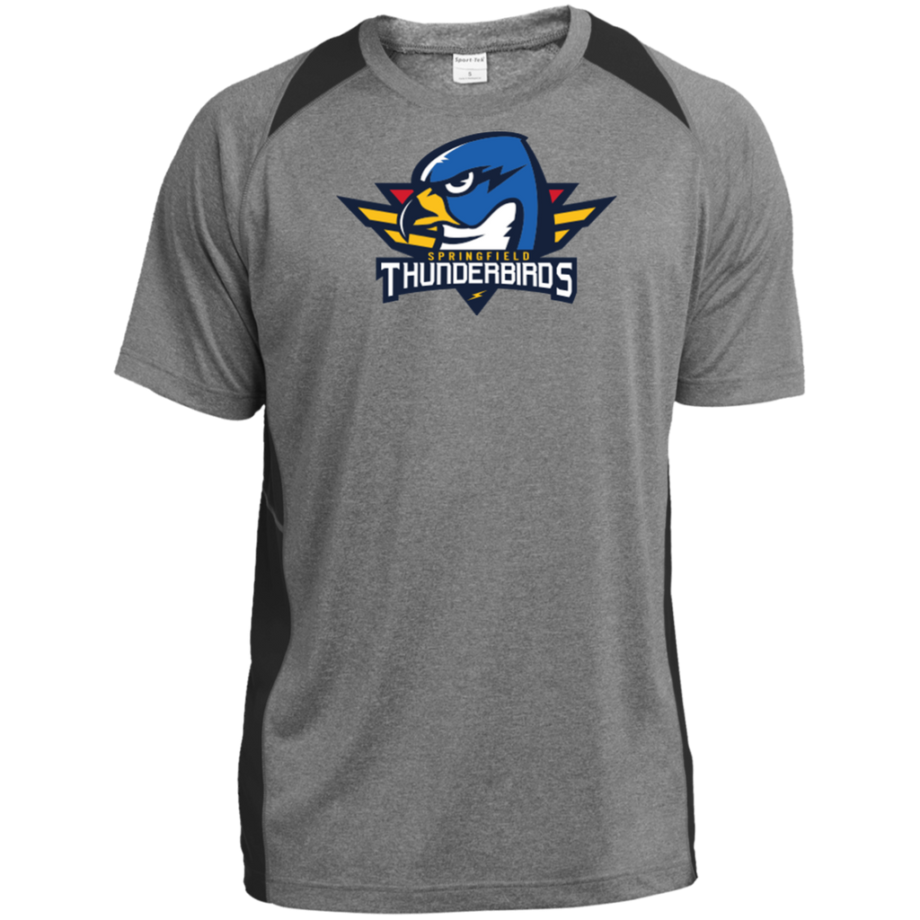 Springfield Thunderbirds Primary Logo Heather Colorblock Poly T-Shirt