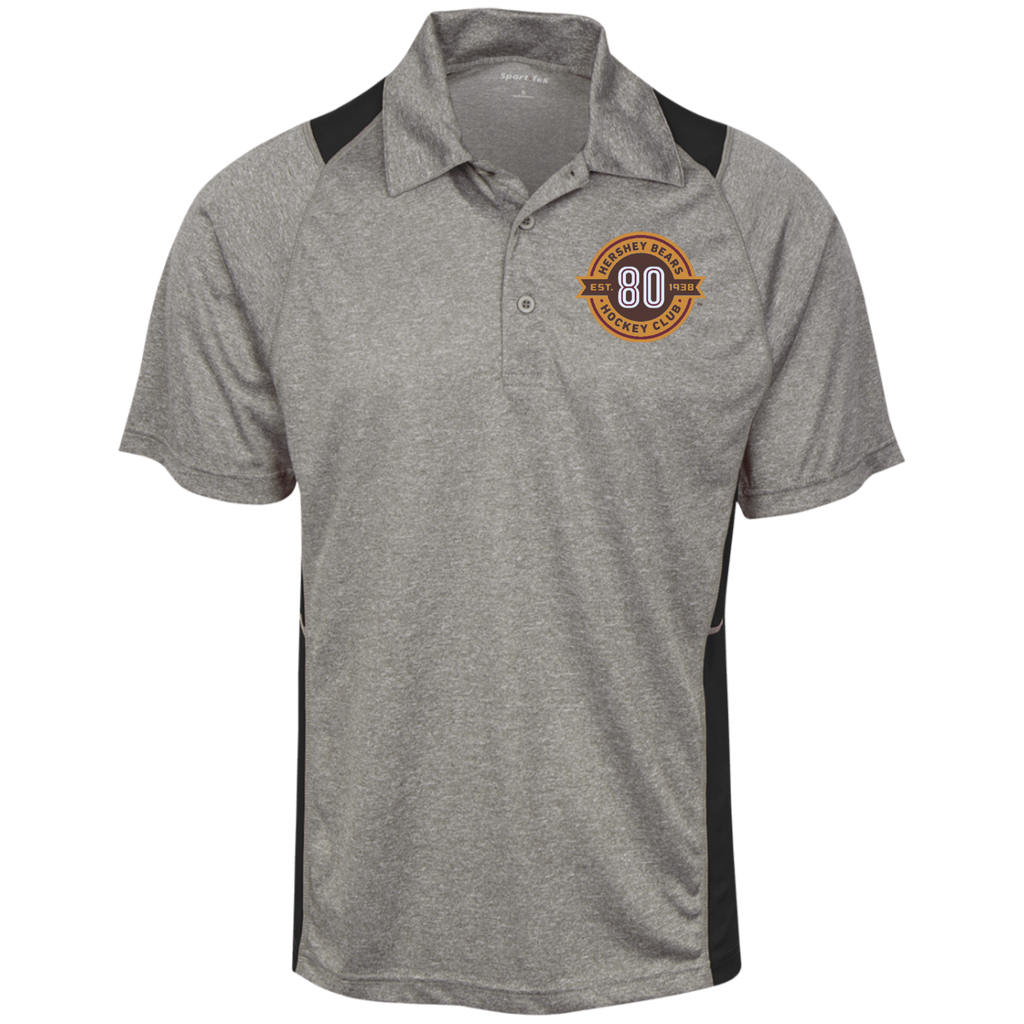 Hershey Bears 80th Anniversary Heather Moisture Wicking Polo