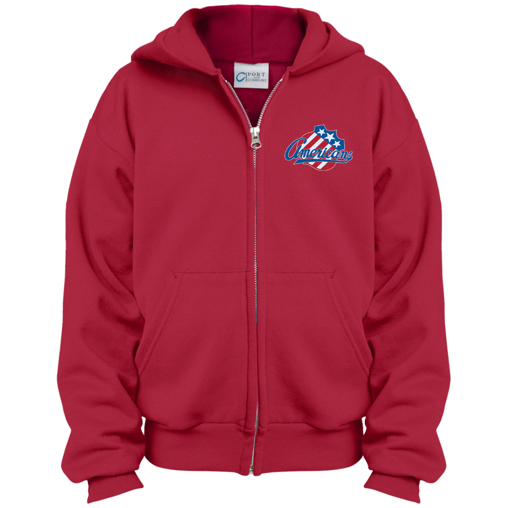 Rochester Americans Youth Embroidered Full Zip Hoodie
