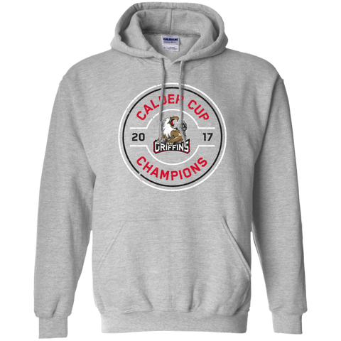 Grand Rapids Griffins 2017 Calder Cup Champions Adult Faceoff Pullover Hoodie