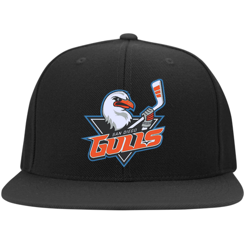San Diego Gulls Flat Bill High-Profile Snapback Hat