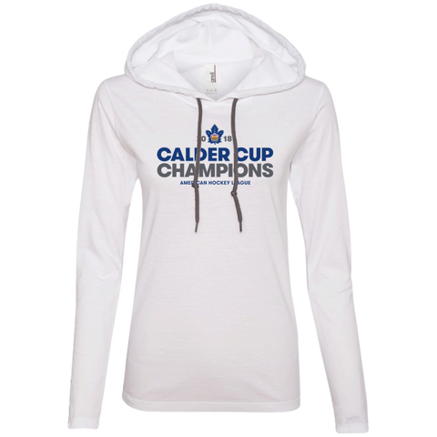 Toronto Marlies 2018 Calder Cup Champions Ladies' Crown Long Sleeve T-Shirt Hoodie