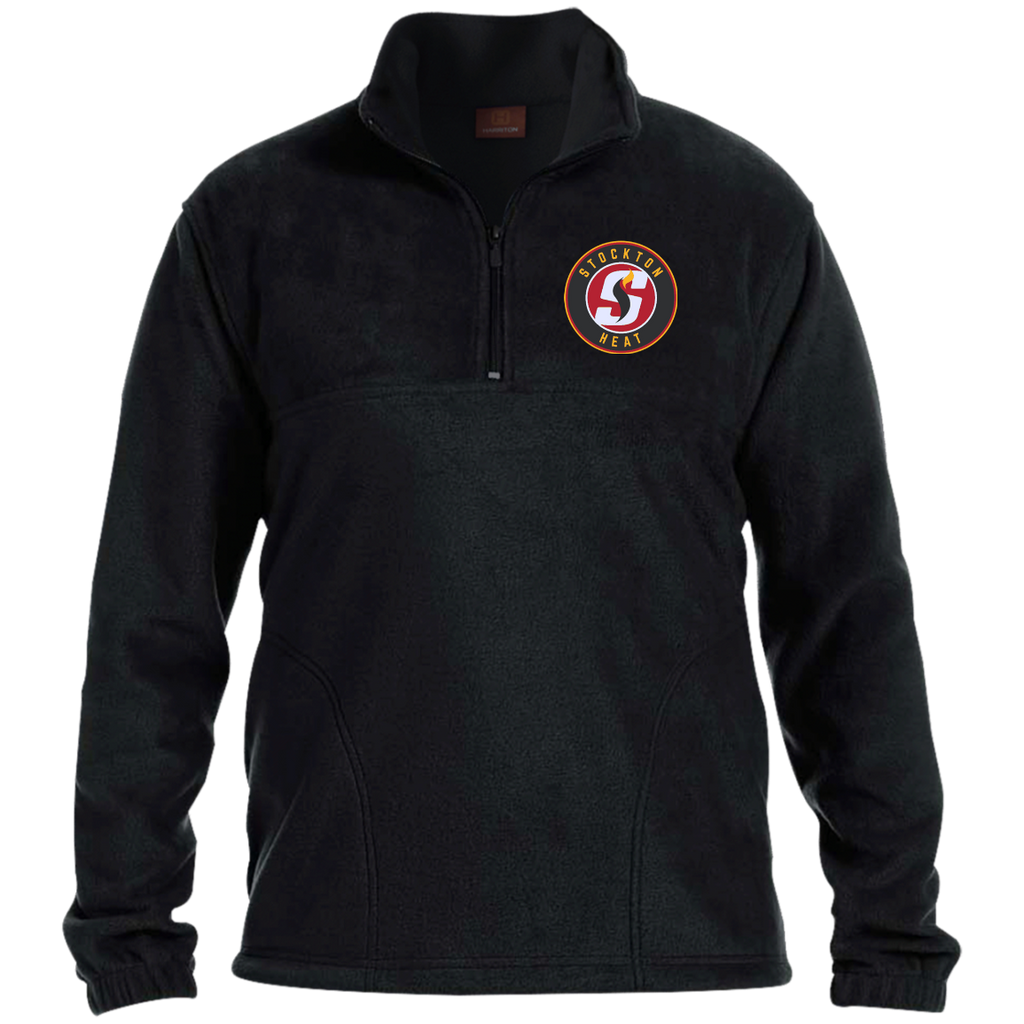 Stockton Heat Adult Embroidered 1/4 Zip Fleece Pullover