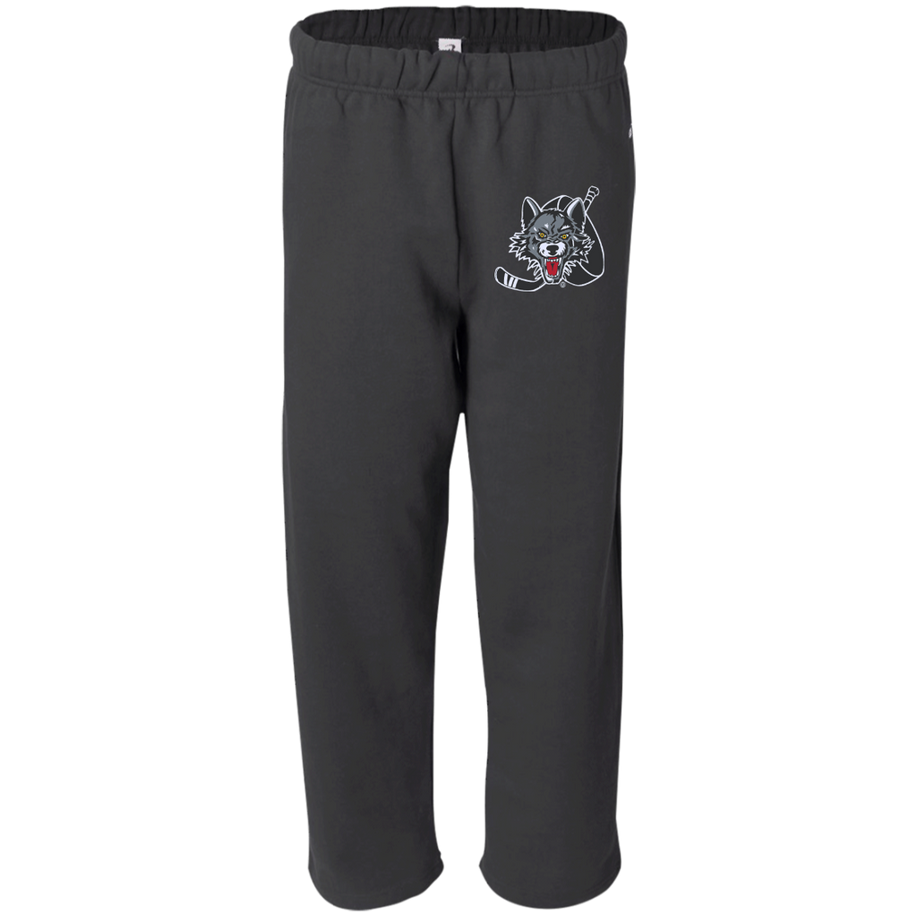 Chicago Wolves Adult Open Bottom Sweat Pant with Pockets