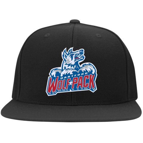 Hartford Wolf Pack Flat Bill High-Profile Snapback Hat