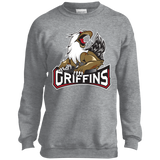 Grand Rapids Griffins Primary Logo Youth Crewneck Sweatshirt