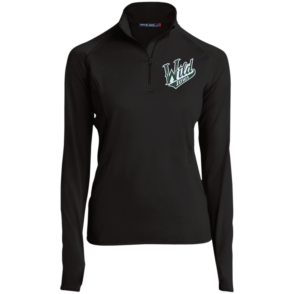 Iowa Wild Women's Half Zip Performance Pullover (sidewalk sale)