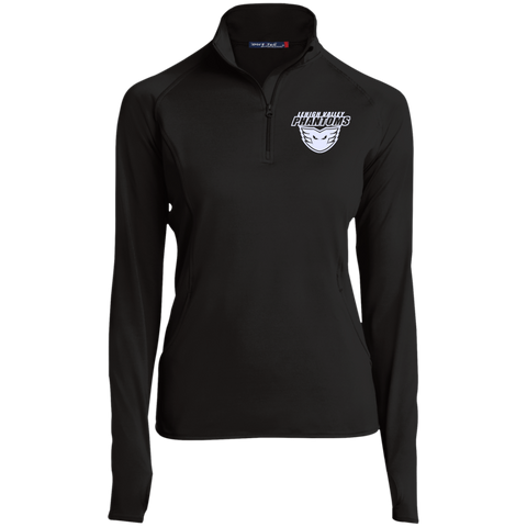 Lehigh Valley Phantoms Women's Half Zip Performance Pullover (White Logo)